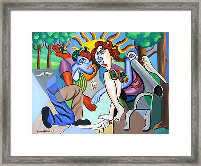 The Proposal Framed Print by Anthony Falbo