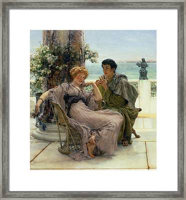 The Proposal Framed Print by Sir Lawrence Alma Tadema
