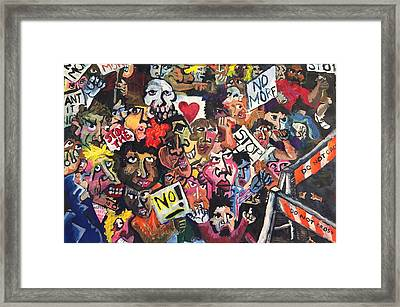 The Protest  Framed Print by Jame Hayes