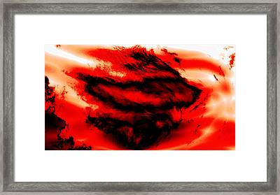 The Psychic Pain Of Loss Framed Print by Abstract Angel Artist Stephen K