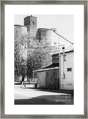 The Pub Across From The Silos Framed Print by Linda Lees