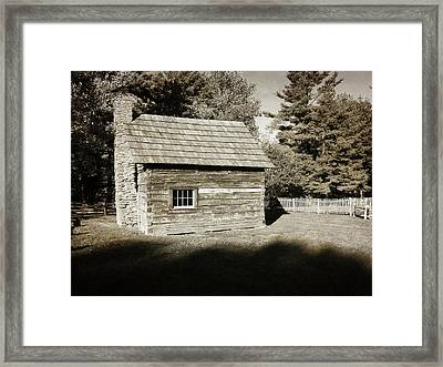 The Puckett Cabin Framed Print by George Martinez