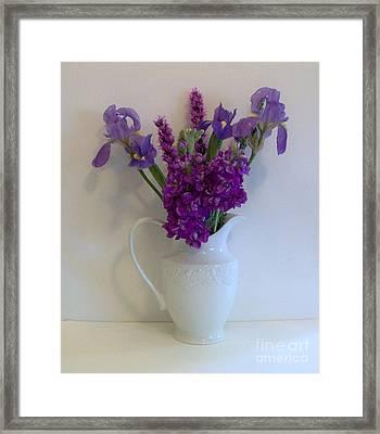 The Purple Family Framed Print by Marsha Heiken