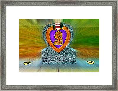 the Purple Heart Framed Print by Francisco Colon