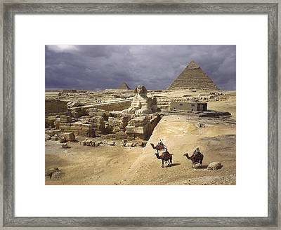 The Pyramids Of Giza And The Great Framed Print by B. Anthony Stewart