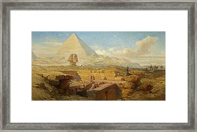 The Pyramids Framed Print by William James Muller