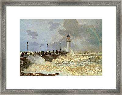 The Quay At Le Havre Framed Print by Claude Monet