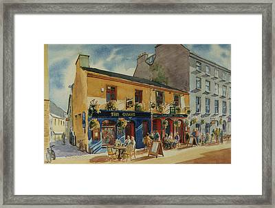 The Quays Pub Galway Framed Print by Tomas OMaoldomhnaigh