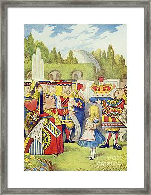 The Queen Has Come And Isnt She Angry Framed Print by John Tenniel