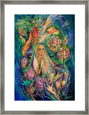 The Queen Of Shabbat Framed Print by Elena Kotliarker