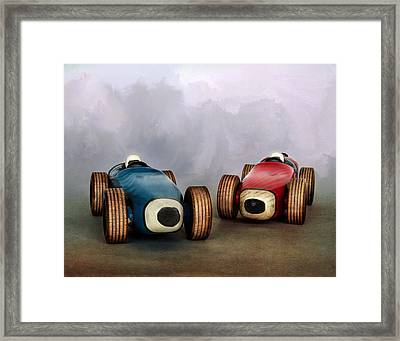 The Race Framed Print by David and Carol Kelly
