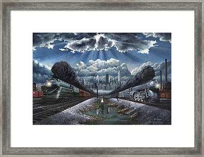 The Race Framed Print by David Mittner