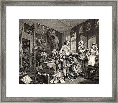 The Rakes Progress The Young Heir Takes Framed Print by Vintage Design Pics