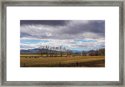 The Range And Home Framed Print by Ron Day