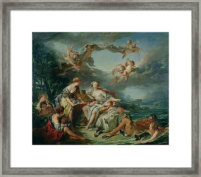 The Rape Of Europa Framed Print by Francois Boucher