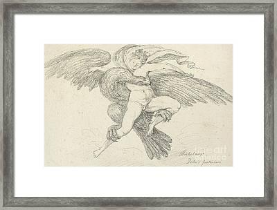 The Rape Of Ganymede Framed Print by Jean-Honore Fragonard
