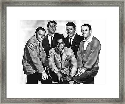 The Rat Pack Framed Print by Marvin Blaine