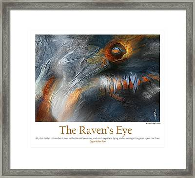 The Raven's Eye Framed Print by Bob Salo