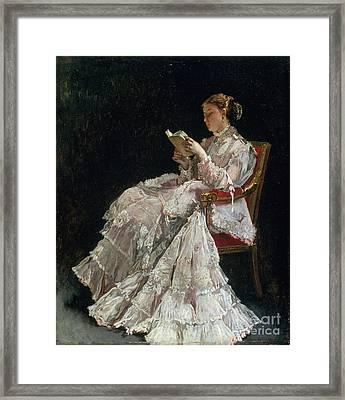 The Reader Framed Print by Alfred Emile Stevens