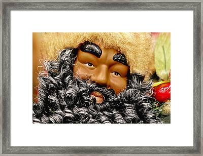 The Real Black Santa Framed Print by Christine Till