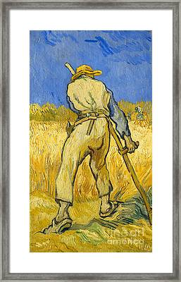 The Reaper Framed Print by Vincent van Gogh