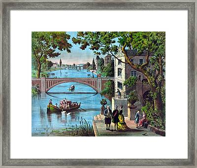 The Reception Of Benjamin Franklin In France Framed Print by War Is Hell Store