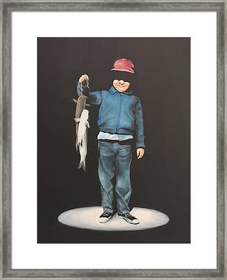 The Red Cap Framed Print by Jeffrey Bess