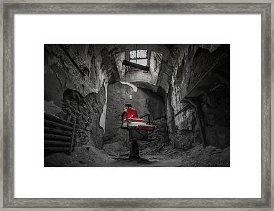 The Red Chair Framed Print by Kristopher Schoenleber