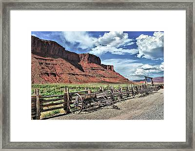 The Red Cliffs Framed Print by Gregory Ballos