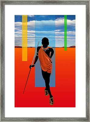 The Red Knight Framed Print by Mark Myers