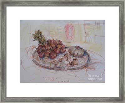 The Red Onion Framed Print by Sukalya Chearanantana