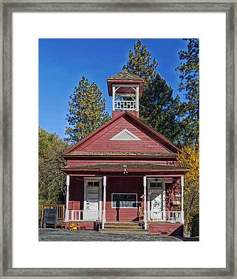 The Red Schoolhouse Framed Print by Mountain Dreams