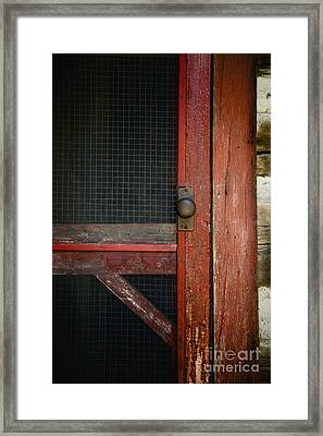 The Red Screen Door Framed Print by Margie Hurwich