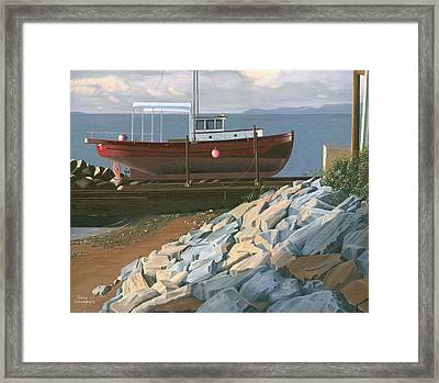 The Red Troller Revisited Framed Print by Gary Giacomelli