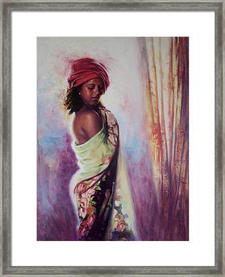 The Red Turban Framed Print by Colin Bootman
