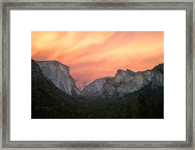 The Red Valley Framed Print by Francesco Emanuele Carucci