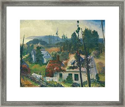 The Red Vine, Matinicus Island, Maine Framed Print by George Bellows