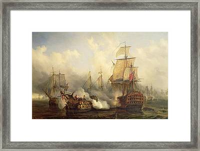 The Redoutable At Trafalgar Framed Print by Auguste Etienne Francois Mayer