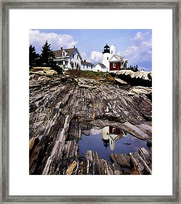 The Reflection At Pemaquid Framed Print by Skip Willits