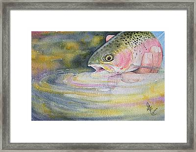 The Release Framed Print by Gale Cochran-Smith