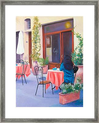 The Rendezvous Montalcino Framed Print by Jan Matson