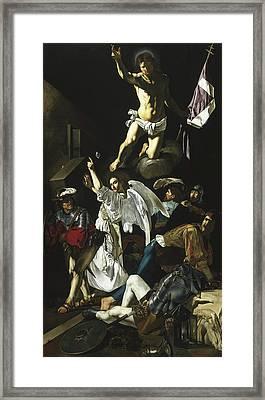 The Resurrection Framed Print by Cecco de Caravaggio