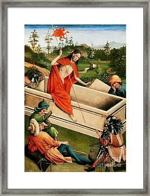The Resurrection Framed Print by Johann Koerbecke