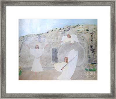The Resurrection Framed Print by Karen Jane Jones