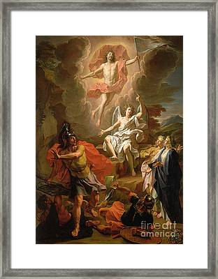 The Resurrection Of Christ Framed Print by Noel Coypel