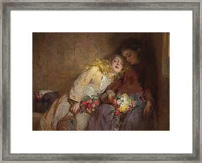 The Return Home Framed Print by George Elgar Hicks