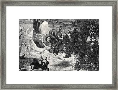 The Return Of Story Time Framed Print by Alfred Thompson Bricher