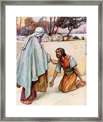 The Return Of The Prodigal Son Framed Print by Arthur A Dixon