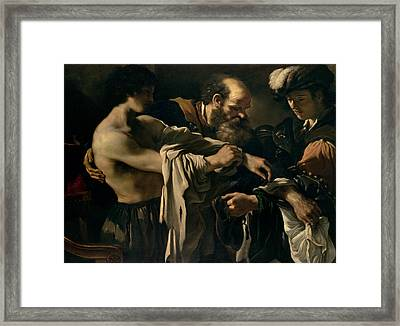 The Return Of The Prodigal Son Framed Print by Giovanni Francesco Barbieri