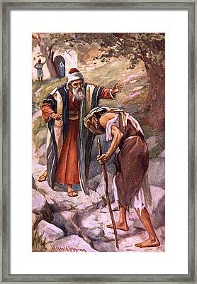 The Return Of The Prodigal Son Framed Print by Harold Copping